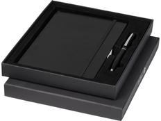 Подарочный набор Falsetto: блокнотА5, ручка шариковая, чёрный фото