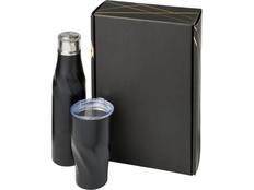 Подарочный набор Hugo: бутылка для воды, термокружка, чёрный фото