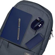 Подарочный набор Super-set-Portobello: Рюкзак, внешний аккумулятор, смарт браслет, ежедневник А5, ручка, тёмно-синий фото