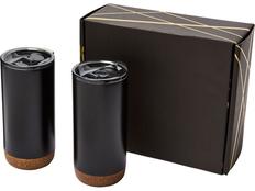 Подарочный набор Valhalla: 2 термокружки, чёрный/коричневый фото