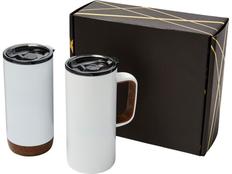 Подарочный набор Valhalla: вакуумная кружка и термокружка, белый фото