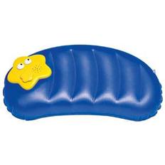 Подушка надувная с FM-радио, синий, желтый фото