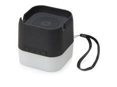 Колонка портативная с подсветкой Deco soft touch, черная фото