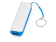 Портативное зарядное устройство Basis, 2000 mAh, белое/ голубое фото
