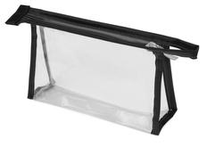 Прозрачная пластиковая косметичка Lucy, чёрная фото