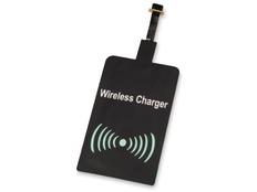 Приемник для беспроводной зарядки Qi, micro USB, черный фото