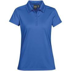 Рубашка поло с 3 пуговицами женская Stormtech Eclipse H2X-Dry, синяя фото
