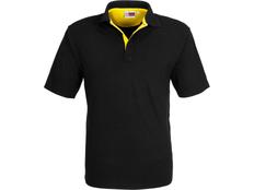 Рубашка поло мужская US Basic Solo, черная/ желтая фото