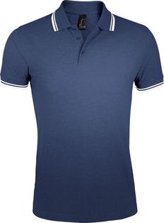 Рубашка поло женская Sol's Pasadena Women 200, темно-синяя/белая фото