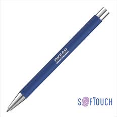 """Ручка шариковая """"Aurora"""", синяя, покрытие soft touch фото"""