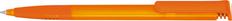 Ручка шариковая пластиковая Senator Super-Soft Clear, прозрачно-оранжевая фото