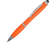Ручка стилус шариковая пластиковая Nash, оранжевая фото
