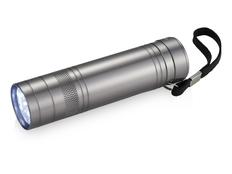 Ручной фонарик с открывалкой, 9 диодов, серебристый фото