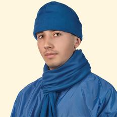 Шапка флисовая, синий фото