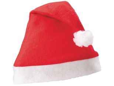 Шапка Новогодняя, белый, красный фото