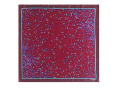Шелковый платок Tourbillon, бордовый фото