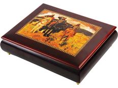 Шкатулка Три богатыря, красный фото