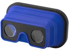 Очки 3D складные силиконовые, черные/ синий фото
