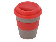 Стакан из бамбукового волокна Café, коричневый/красный фото