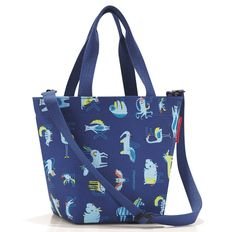 Сумка детская Reisenthel Shopper XS Abc Friends, синяя фото