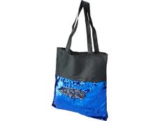 Сумка-шоппер Mermaid с пайетками, чёрно-синяя фото