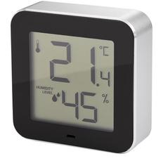 Термометр-гигрометр Philippi Simple, серебряный / чёрный фото