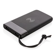Внешний аккумулятор с беспроводной зарядкой XD Xclusive Aria, черный, 8000 mAh, 5W фото