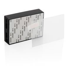 Внешний аккумулятор из закаленного стекла для беспроводной зарядки XD Collection, 5000 мАч, чёрный фото