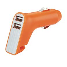 Зарядное устройство для автомобиля XD Collection, оранжевое/серое фото