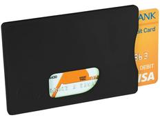 Защитный чехол RFID для кредитных карт, черный фото