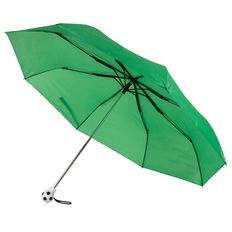 Зонт складной механический, с футбольным мячиком на ручке Football, зеленый фото