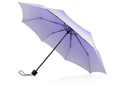 Зонт складной механический Shirley, белый / сиреневый фото