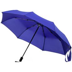 Зонт-сумка складной механический, 3 сложения, Molti Stash, синий фото