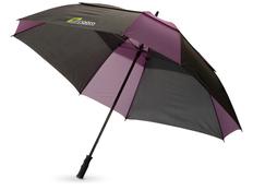Зонт трость квадратный купол сегментами механический Helen, черный / фиолетовый фото