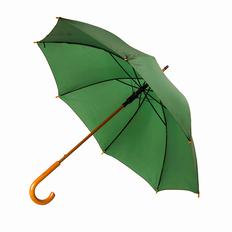 Зонт трость механический, темно-зеленый фото