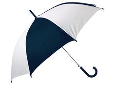 Зонт трость полуавтомат Тилос, купол с сегментами, белый/ темно-синий фото