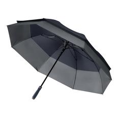Зонт трость полуавтомат Portobello Bora, двойной купол, синий/ серый фото