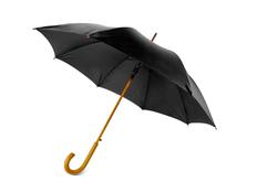 Зонт-трость Радуга, чёрный фото