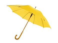 Зонт трость полуавтомат Радуга, темно-желтый фото