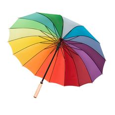 Зонт трость механический Радуга, 16 цветов, разноцветный фото