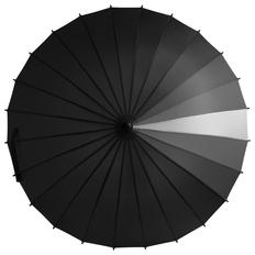 Зонт трость механический Спектр, черный/ серый фото