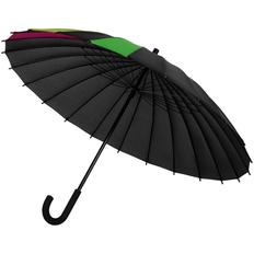 Зонт-трость «Спектр», черный неон фото