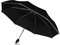 Зонт складной автомат Уоки, черный / серебристый фото