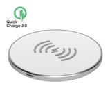Беспроводное зарядное устройство OLMIO Quick Charge 10W, белое фото