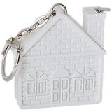 Брелок - рулетка в форме домика Дом, белый фото
