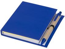 Комбинированный блокнот с шариковой ручкой, синий фото