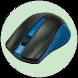 Мышь беспроводная RITMIX RMW-555, синяя фото