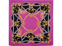 Платок шелковый, розовый фото