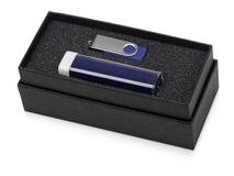 Подарочный набор Flashbank с флешкой и зарядным устройством, синий фото