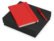 Подарочный набор Moleskine Indiana с блокнотом А5 и ручкой, красный фото